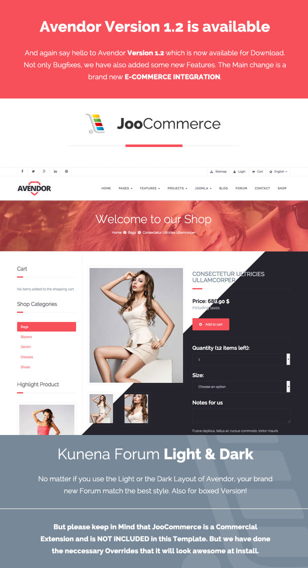 AVENDOR - Responsive Multi-purpose Joomla Template