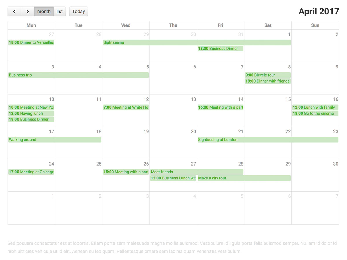 Default Calendar View as Joomla Module and as source the iCloud Calendar