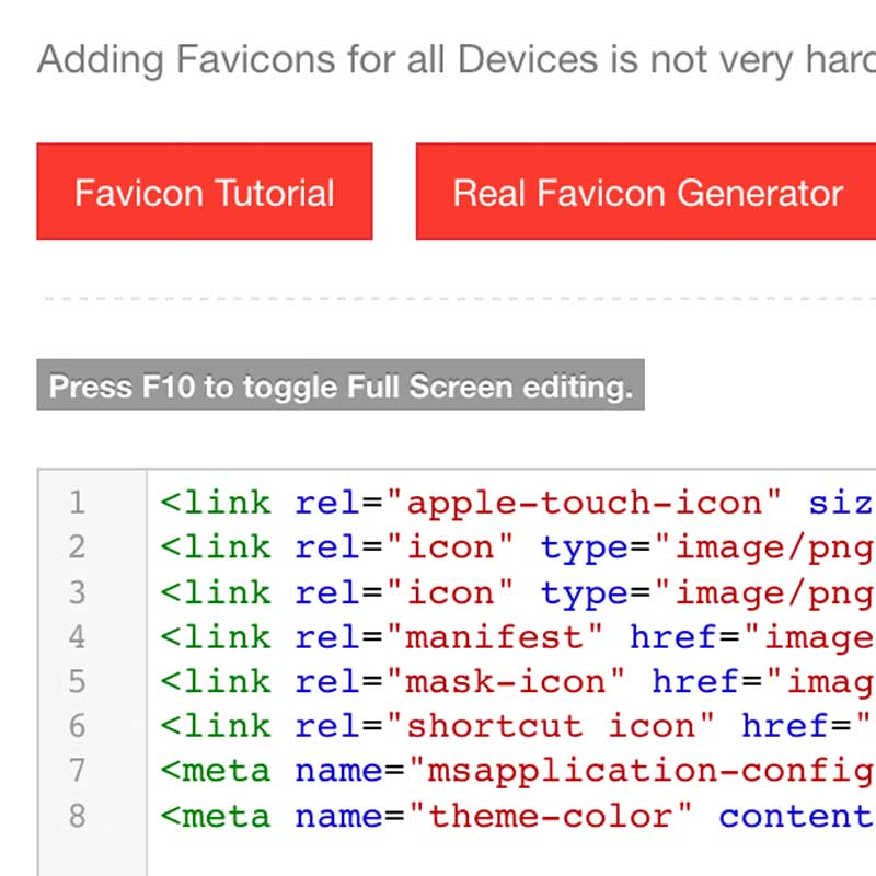 Favicon Settings