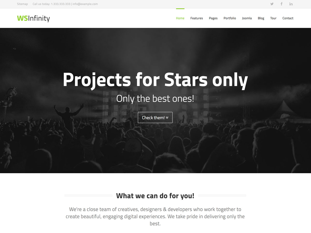 WS-Infinity- ultimate Joomla Template Homepage